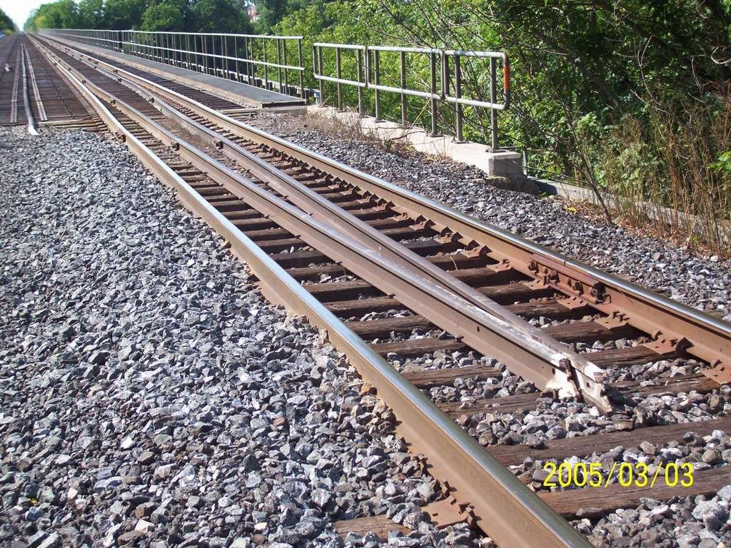 Guard rails are placed parallel to regular running rail