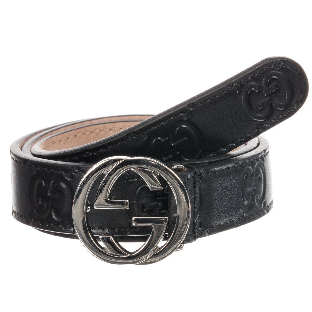 b98a2cbd494 Gucci - Black Leather GG Belt