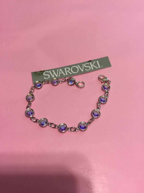 Swarovski Crystal Bracelet Tanzanite Crystals Lavender