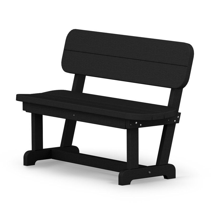 Outdoor POLYWOOD® Park Recycled Plastic 48 in. Park Bench ...