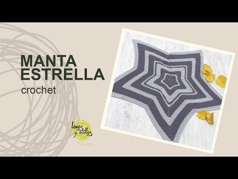 Tutorial Manta Estrella Crochet o Ganchillo en Español - YouTube ...