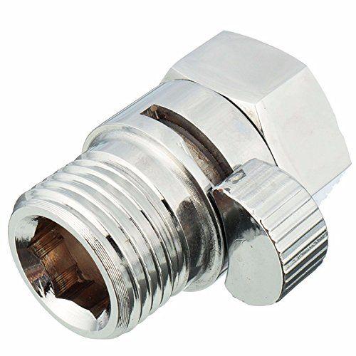 12 Solid Brass Flow Contol Shut Off Pressure Valve For Shower Head