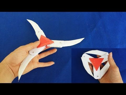Comment Faire Une étoile De Ninja En Papier Shuriken Youtube