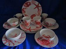 Seashells and Starfish Dinnerware | ... 222 FIFTH Coastal Life Coral Dinnerware Plates Bowls \u0026 Mugs Cups Beach & Seashells and Starfish Dinnerware | ... 222 FIFTH Coastal Life Coral ...