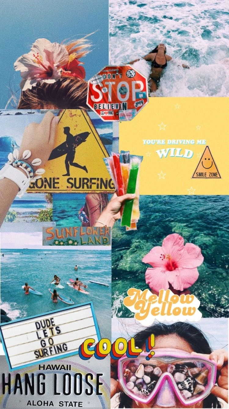 Summer Time Wallpaper Iphone Cute Collage Background Wallpaper