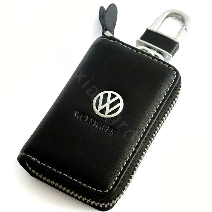 Mercedes Black Genuine Leather Braided Car Key Ring