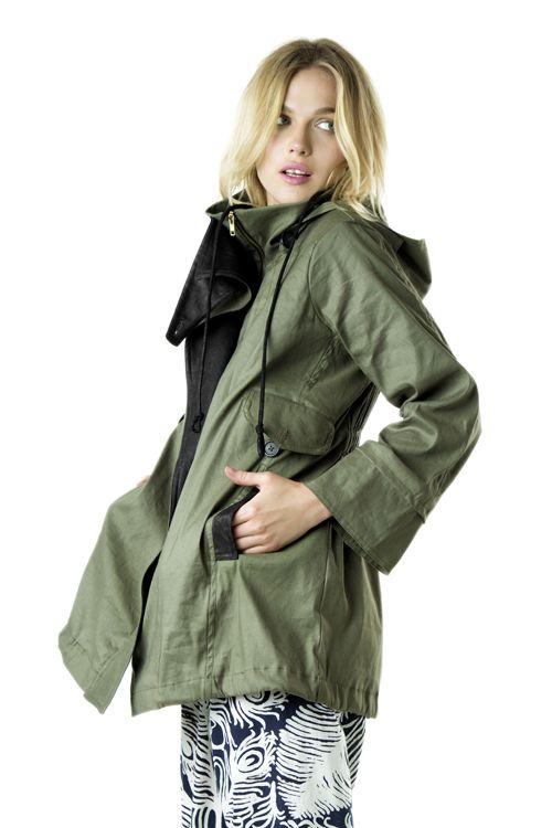 Seaweed Jacket//Linen cotton twill parka//Heidi Merrick