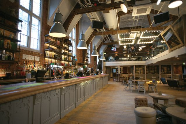 256 Wilmslow Road Manchester Hydes Brewery Interior Design By Allison Pike Partnership Industrial Ceiling