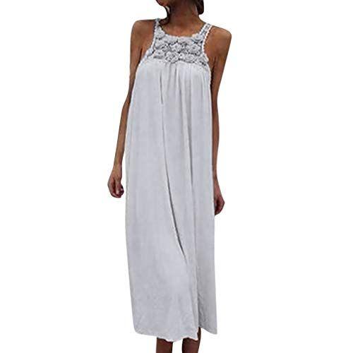 87914a56d Vectry Vestidos para Playa Mujer Vestidos De Fiesta Midi para Bodas Moda  Mujer 2019 Vestidos Verano