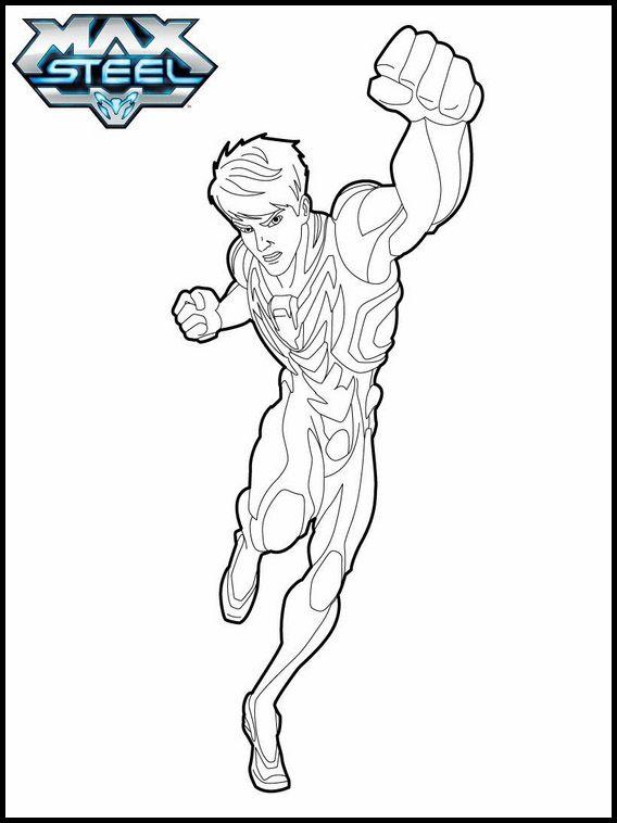 Ausmalbilder druckbare Max Steel 10 | Ausmalbilder für kinder ...
