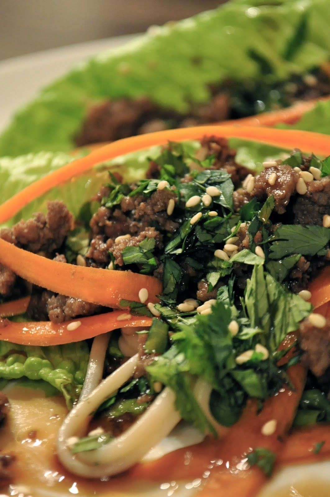 The Salted Home : Beef Lettuce Wraps