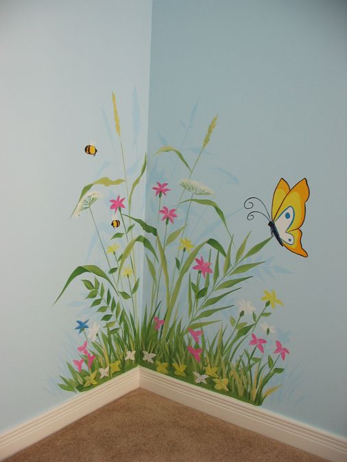 Flower Murals Bing Images Leyanne In 2019 Nursery