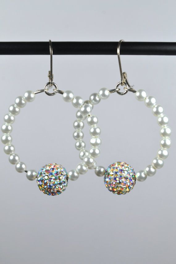 Sterling Silver Pearl and Crystal Ball