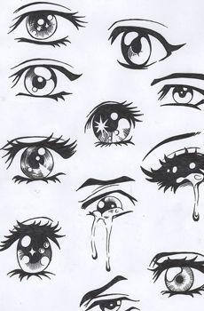 Zeichnung Manga Augen 1895 32 Zeichnen Lernen Malen Pinterest