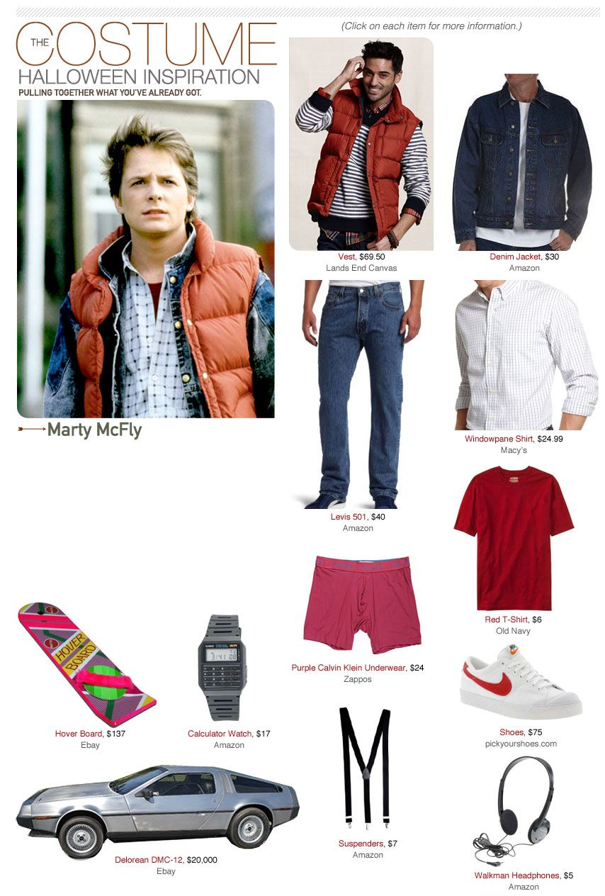 Marty Mcfly Back To The Future Costume Marty Mcfly Halloween Costume Marty Mcfly Marty Mcfly Costume [ 1264 x 854 Pixel ]