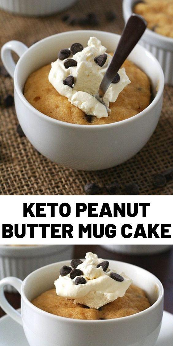 Keto Peanut Butter Mug Cake in 2020 | Delicious cake ...
