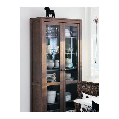 Ikea hemnes vitrina marr n gris ceo for the home for Hemnes ikea vitrina