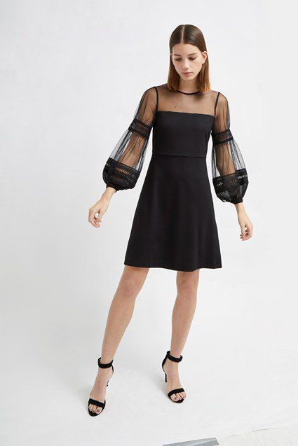 Paulette Jersey Puff Sleeve Dress  fcb4f9293