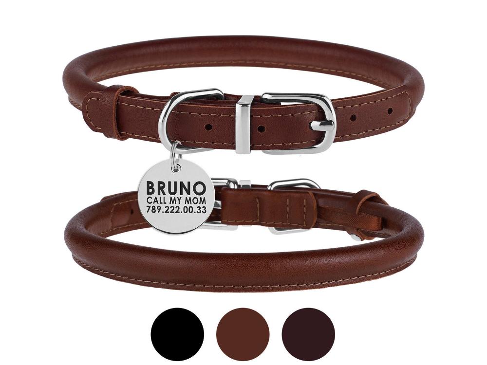 1.5/'/' Waterproof Dog Collar Biothane Collar Vegan Leather Collar Side Release Matte Black Faux Leather Dog Collar Neon Pink