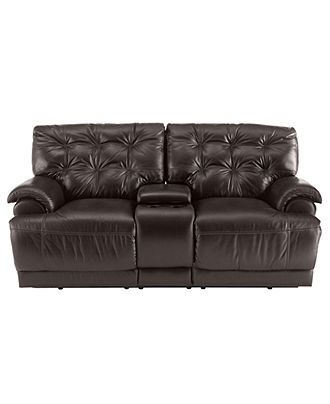 Dylan Leather Loveseat Double Reclining 77 Quot W X 42 Quot D X 39