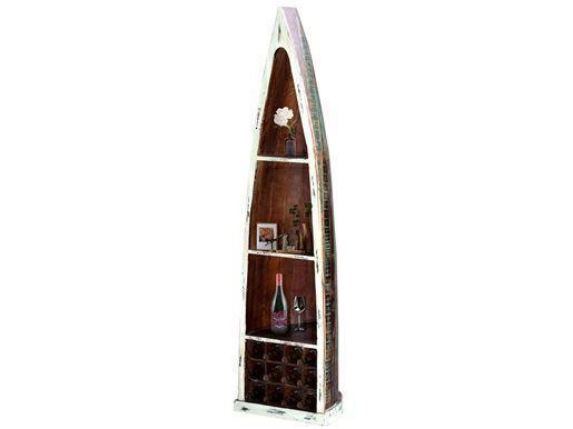 Indische Möbel online kaufen >> Exotischer Wohnstil | Loft24 #indischemöbel Exotisches Weinregal GRANT mit 3 Einlegeböden und 12 Ablagefächer für Flaschen in crème Farbe aus Mango.  In diesem wundervoll designten Weinregal finden nicht nur Ihre edlen Tropfen Ihren Platz. Mit 3 Ablagefächern finden in diesem Shabby Chic Stil Weinregal auch Ihre Bilder, Blumen oder Dekorationen den richtigen Platz.  Die einzigartige Form dieses indischen Möbelstücks im Farbton creme gibt Ihrem Raum eine g #indischemöbel
