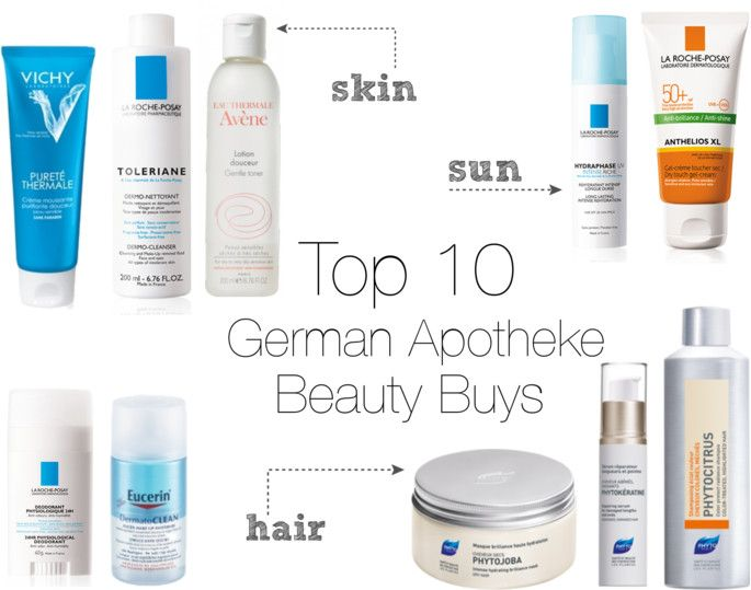 Sole Satisfaction Top 10 German Apotheke Beauty Products Hautpflegeprodukte Beauty Apotheke