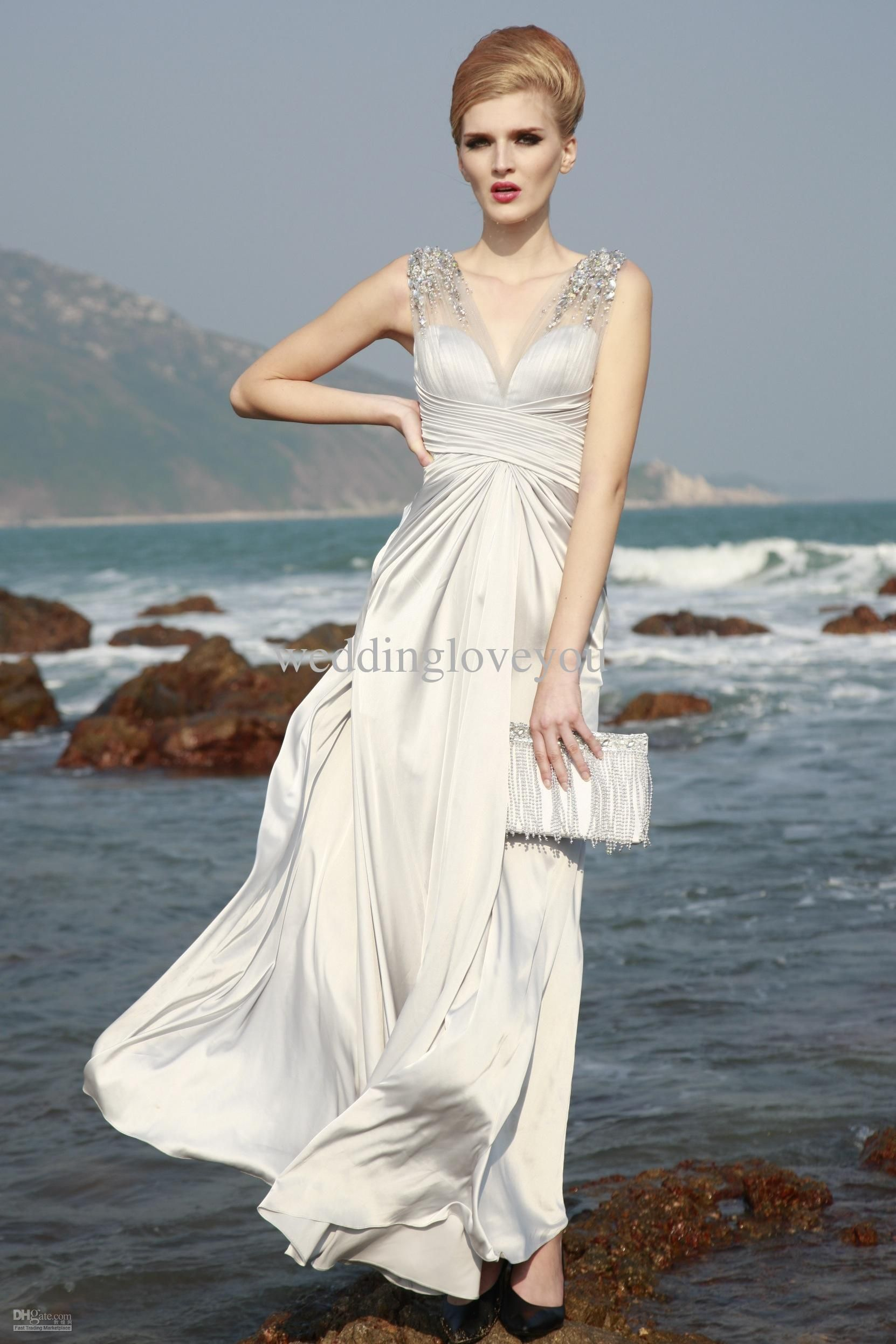 Wholesale 2013 Hot selling elegant/exquisite/sexy/high quality sheath/column v-neck/sweetheart floor-length beads/sequins /crystal evening/formal gown, Free shipping, $113.0/Piece | DHgate