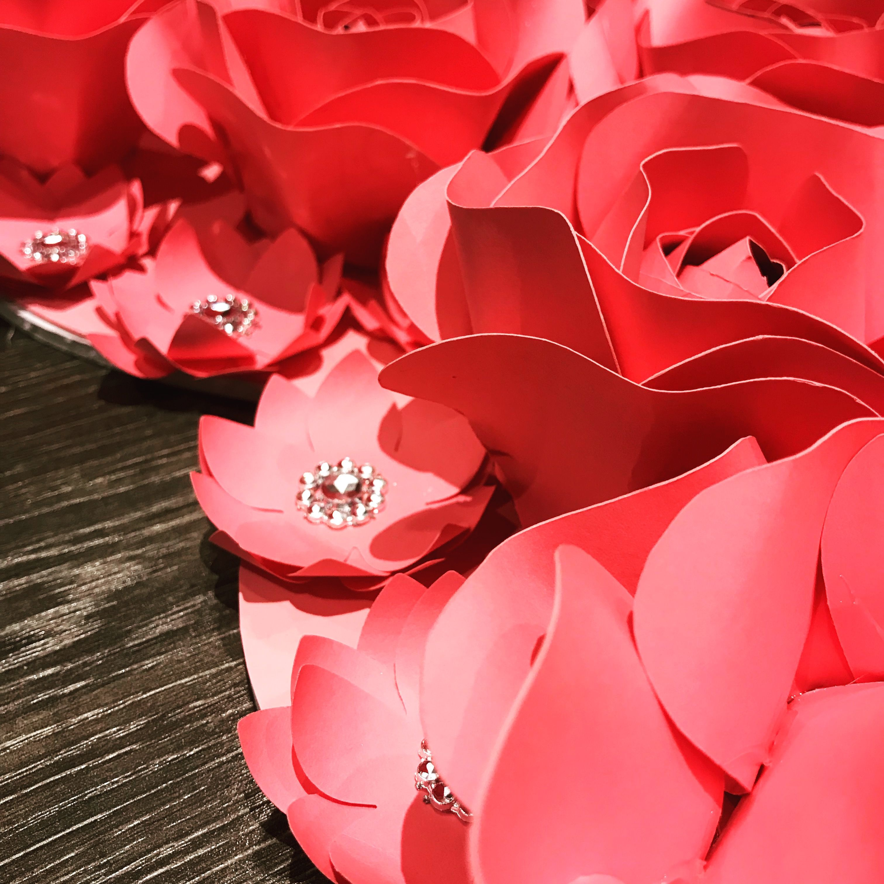 Paper Flower Valentines Day Roses We Can Custom Make Paper