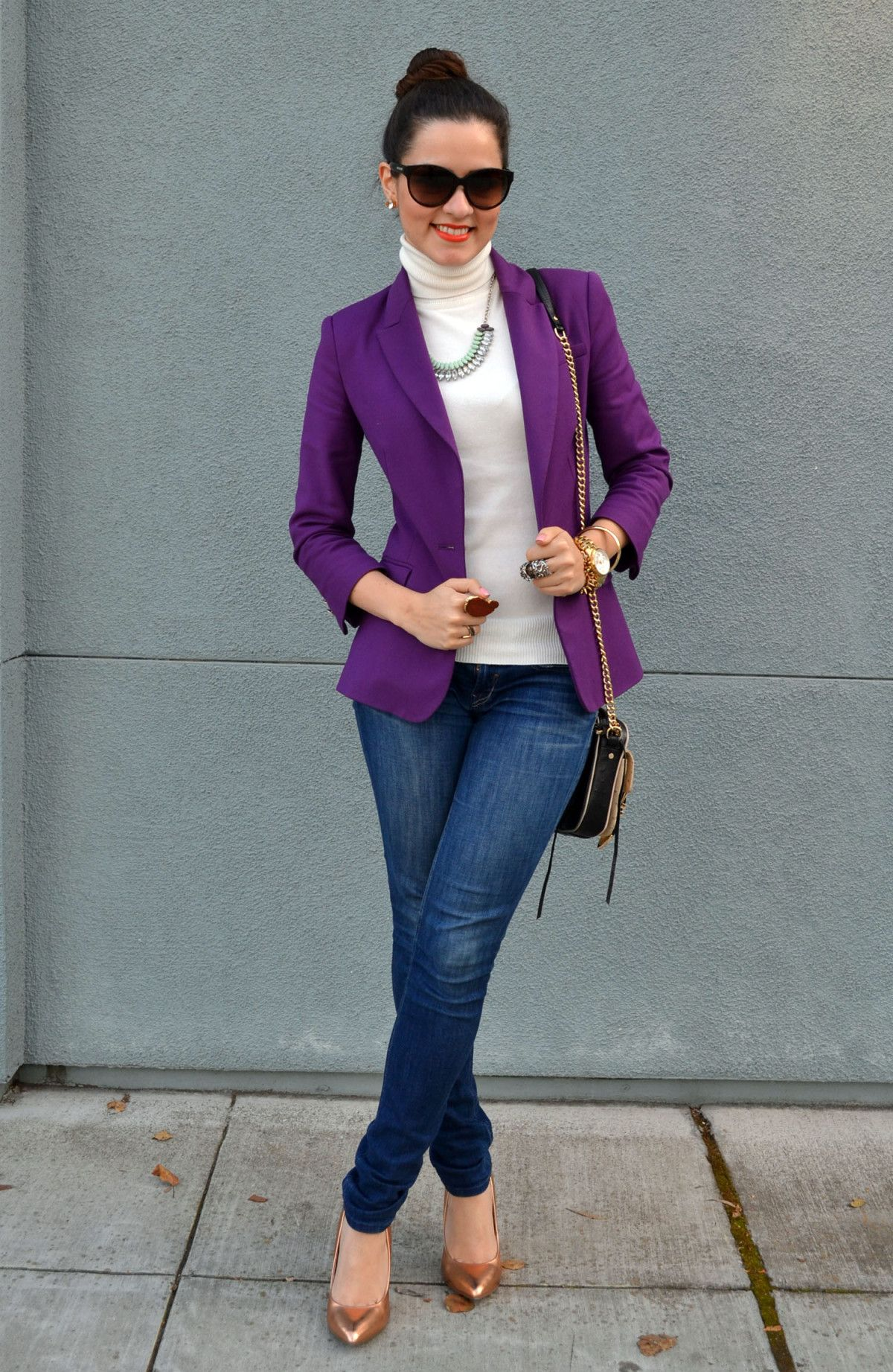 Purple Blazer...want! | Dress Me Up | Pinterest