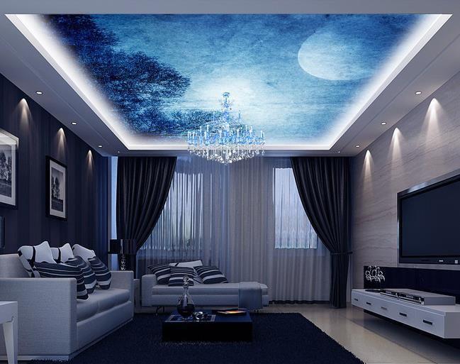 papel de parede 3D mural HD moon night sky fantasy zenith ...
