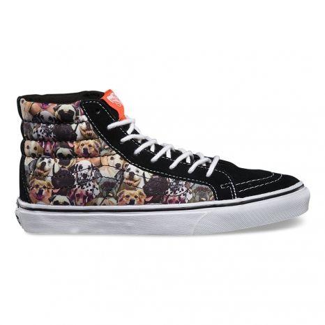 Vans dog print shoes   Womens shoes sneakers, Vans, Vans sk8 hi slim