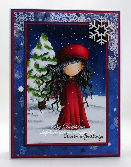 Winter's Night Gorjuss Girl: Sky: B34, 37, 39 Snow: C0, 1, 3 Tree: C0, 1, 3, G28, YG03, 17 Skin: E000, 00, 11, 23 Hair: C3, 5, 7, 9 Outfit: C5, 7, R35, 37, 39, 89, ...