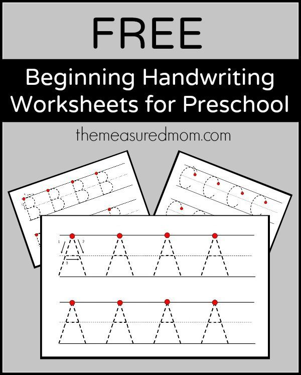 Free beginning handwriting worksheets for preschool | Handschrift ...