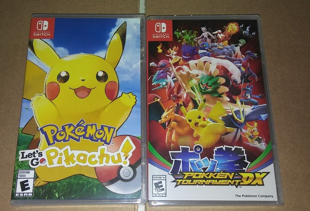 Brand New Nintendo Switch Games Pokemon Pikachu Pokken