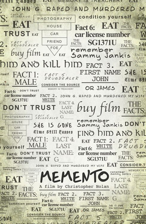 Pin By Ema On Movie Related Memento Movie Alternative Movie Posters Cinema Posters