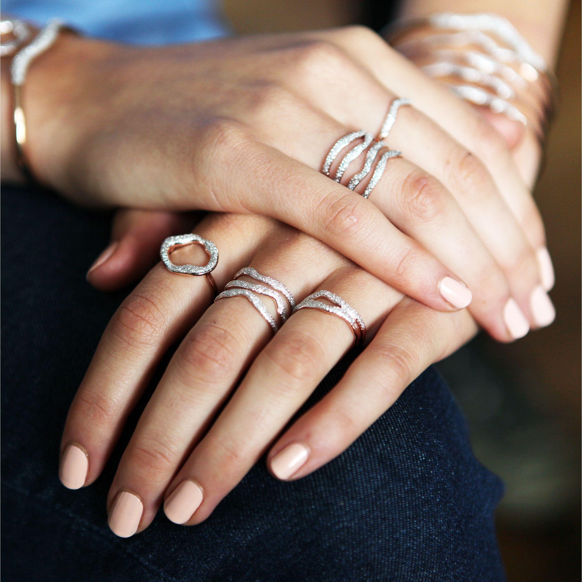 Riva Diamond Circle Ring Sterling silver Rose and Diamond