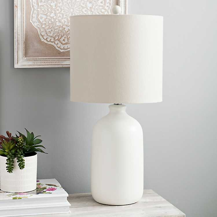 Matte Cream Jug Table Lamp Boho Table Lamps Table Lamps For Bedroom Lamp