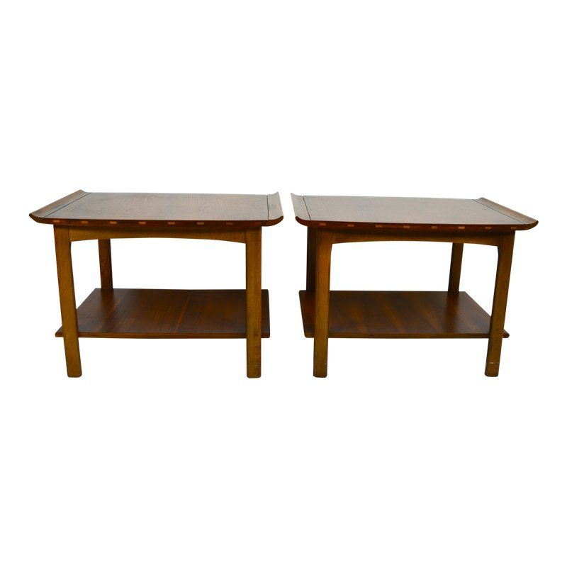 1960s Mid Century Modern Lane End Tables   A Pair