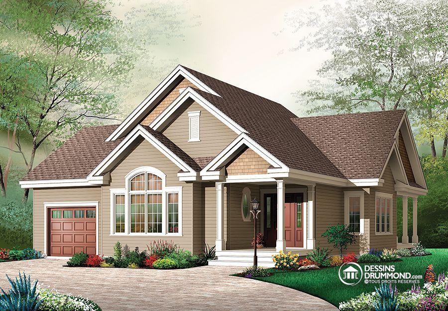 Plan de Maison unifamiliale W3235, champêtre, country, house style
