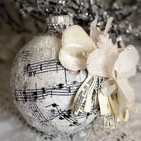 christmas   Shabby chic kerst   Pinterest   Christmas ornament ...