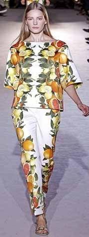 Devaneios de Uma Camaleoa...: Frutas nas roupas!