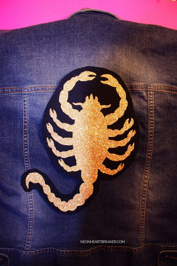 Scorpion Patch Embroidered Badge Iron On Sew On Clothes Jacket Jeans