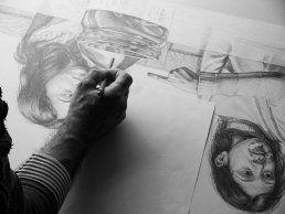"Luigi Pellanda, drawing ""Bugie""."