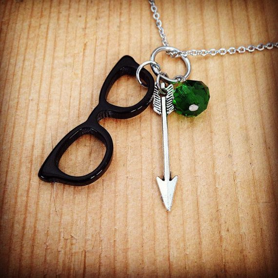 Green Arrow TV show Oliver and Felicity Olicity inspired hand made charm necklace
