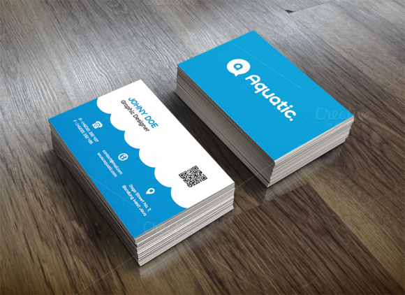 Illustrative water utilities business card template a water illustrative water utilities business card template a water utilities company could utilize this business card for employees the illustrative st colourmoves Choice Image