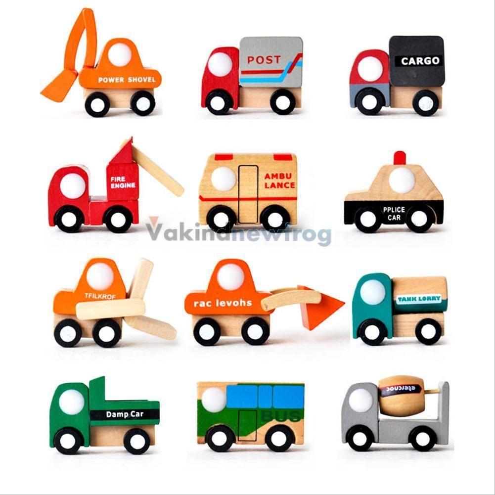 Toys cars pics  Multipattern Mini Wooden Car Model Baby Kids Child Educational Toys