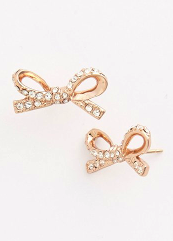 kate spade bow earrings - ear cuffs and earrings that don't dangle at redsoledmomma.com