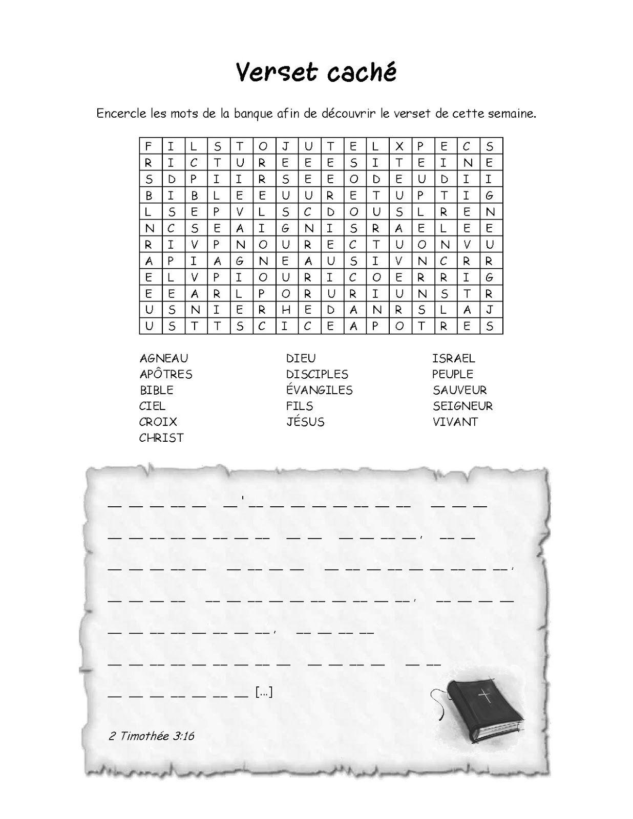 Outils Bibliques Ecole Du Dimanche Travaux Manuels Catechisme Education Chretienne