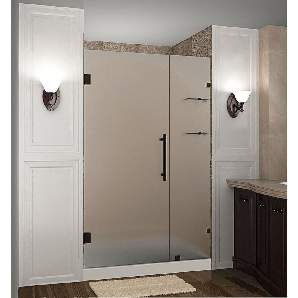 Aston Nautis Gs 47 In X 72 In Frameless Hinged Shower Door With