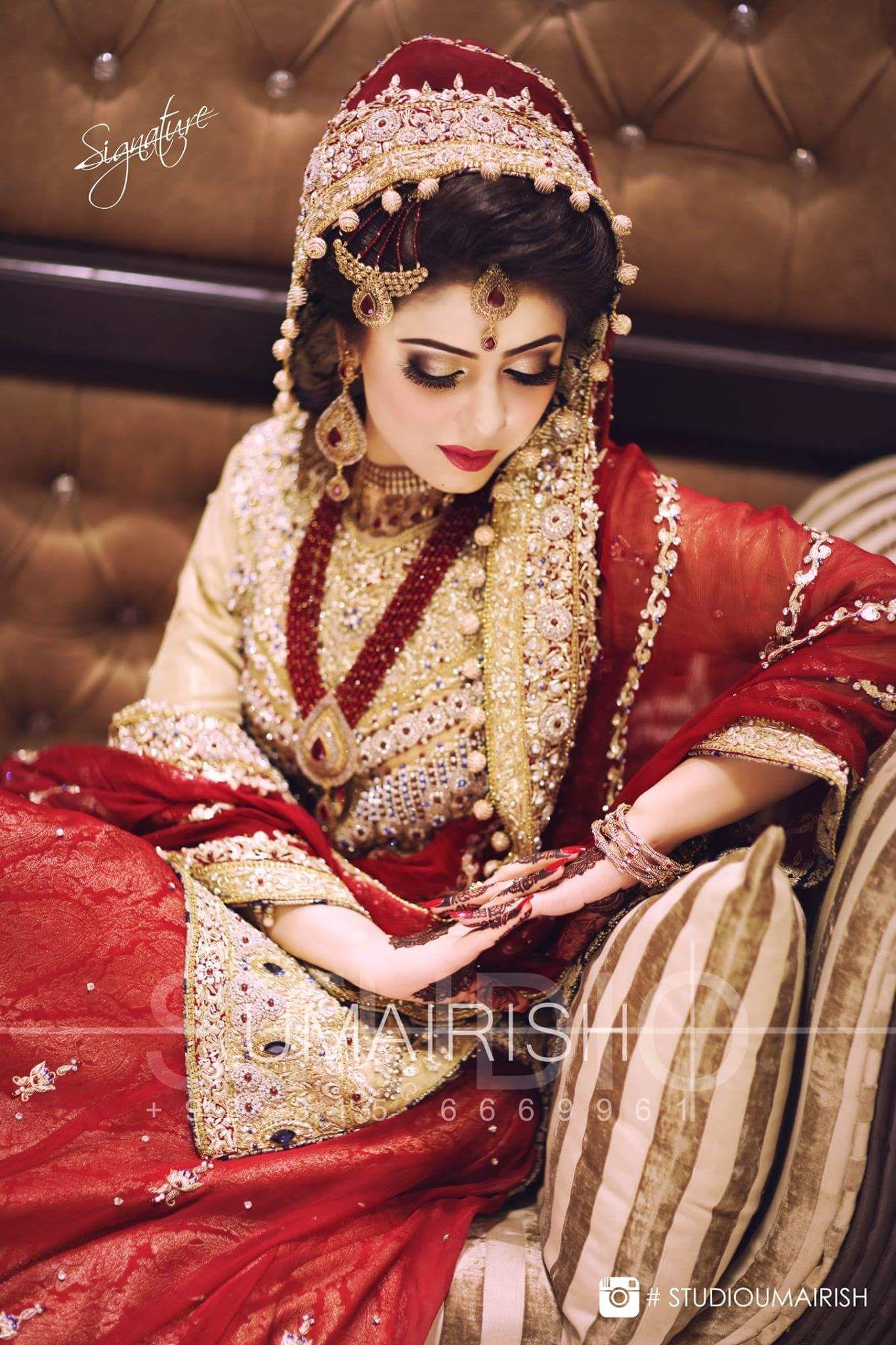 astonishing bride in barat look , photography by umairish